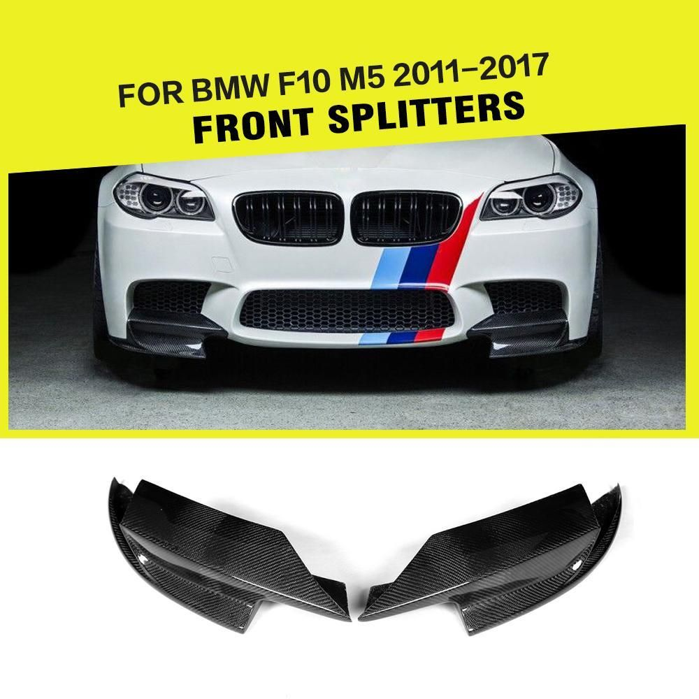 Car Styling Carbon Fiber Auto Front Splitter Lip Flap Cupwings