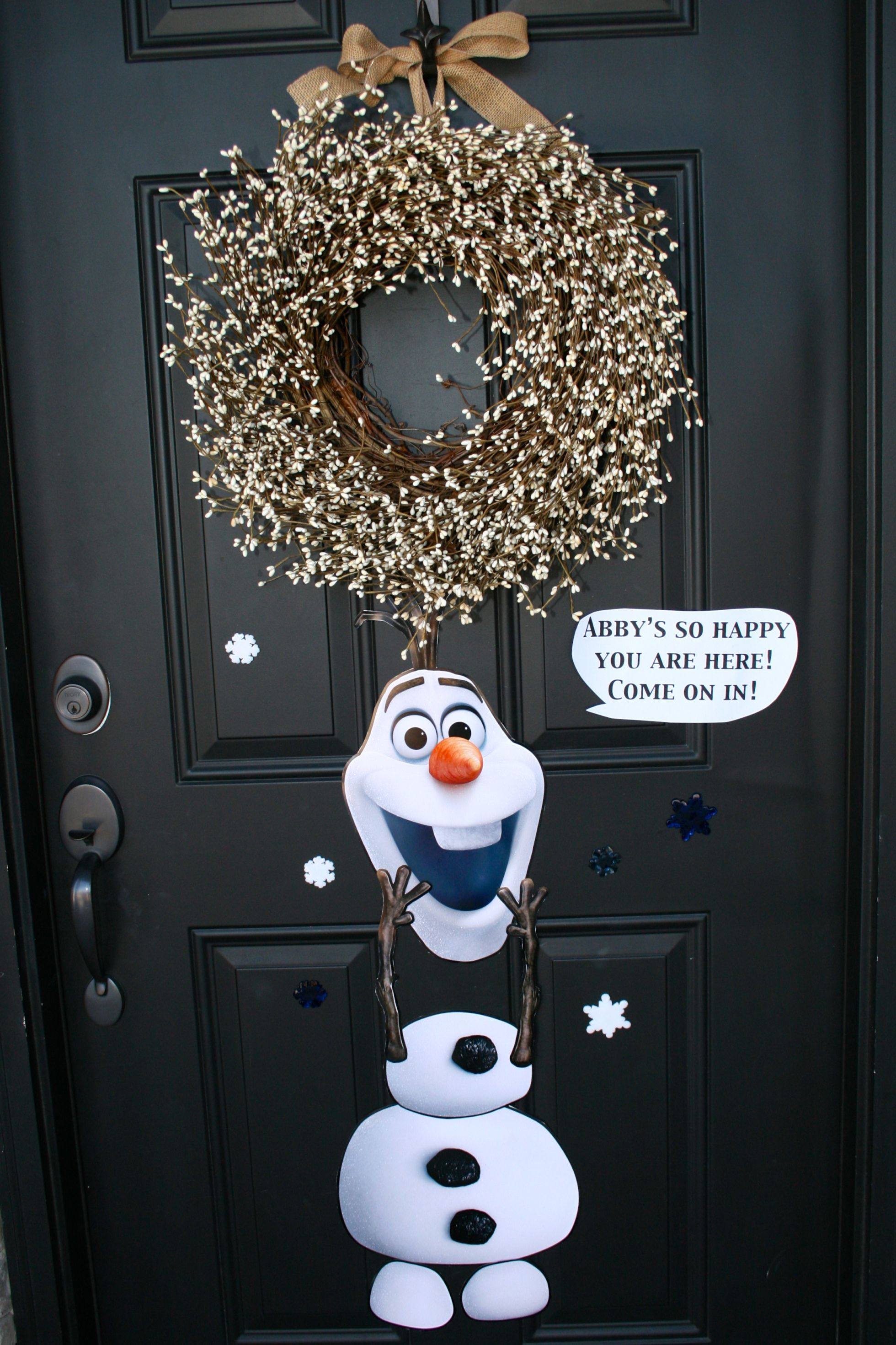 For The Garage Door Maybe With The Tulle Wreath Frozen Party