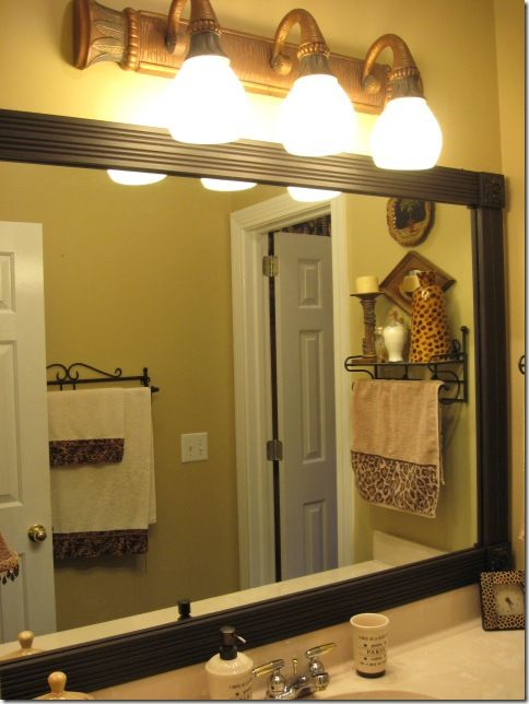 Framing Those Boring Mirrors Mirrors For Bathrooms Old