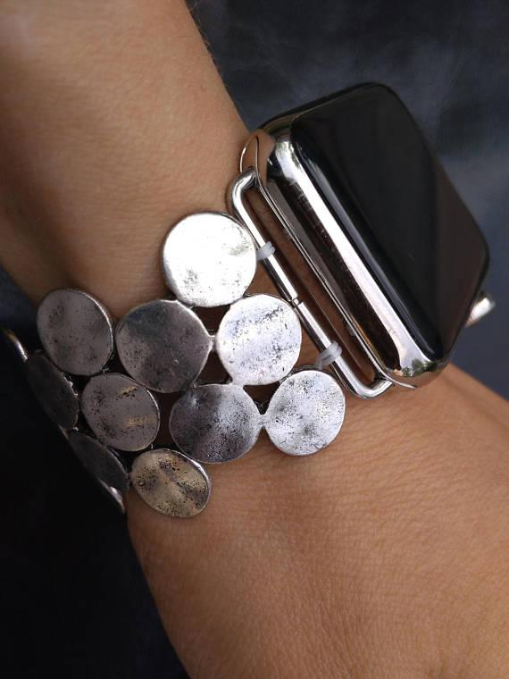 Women S Apple Watch Band 38mm Apple Watch Band Silver Etsy Apple Watch Bands Women Iphone Watch Bands Apple Watch Bands Fashion
