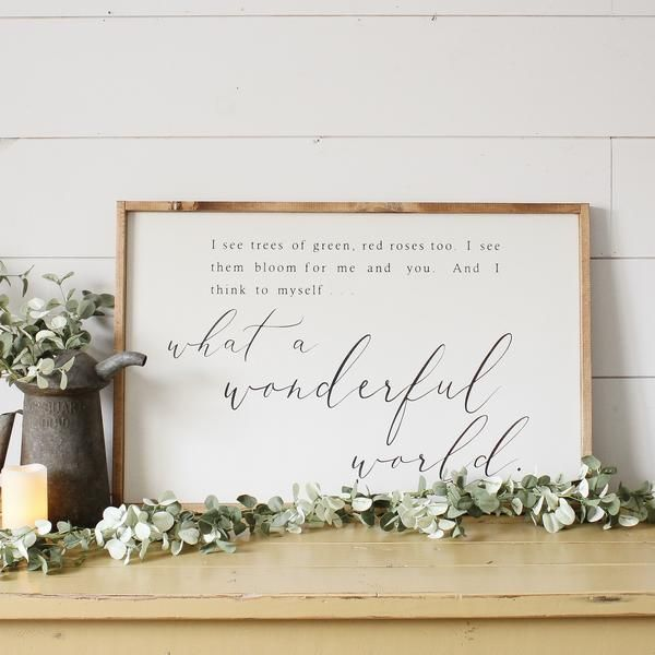 What A Wonderful World Wood Sign Lake House In 2019
