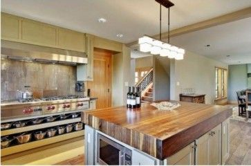 A Lam Beam Laminated Beam They Are Basically 2x6 Boards Laminated Glued Together These Beam Butcher Block Countertops Eclectic Kitchen Top Kitchen Designs