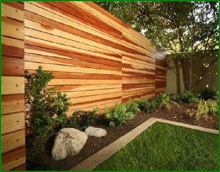 Horizontal Wood Fence Diy