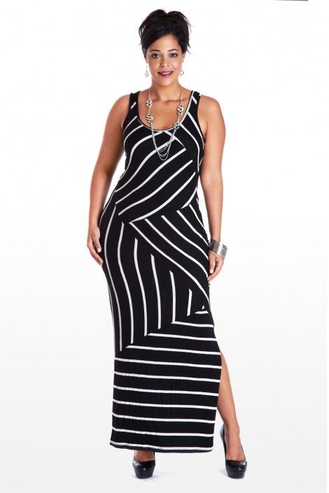 Black And White Stripe Sweater Dress Plus Size Plus Size White