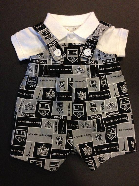 NHL Hockey LA Los Angeles Kings Baby Infant Toddler Boys Jumper Romper Overalls You Pick Size