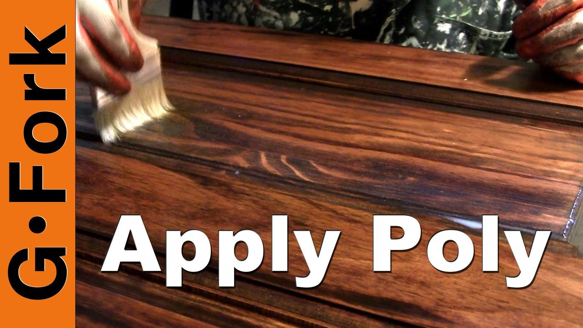 Learn How To Put Polyurethane Over Stain On Your Wood Furniture Watch Our How Polyurethanefinish With Images How To Apply Polyurethane Staining Wood Polyurethane Floors