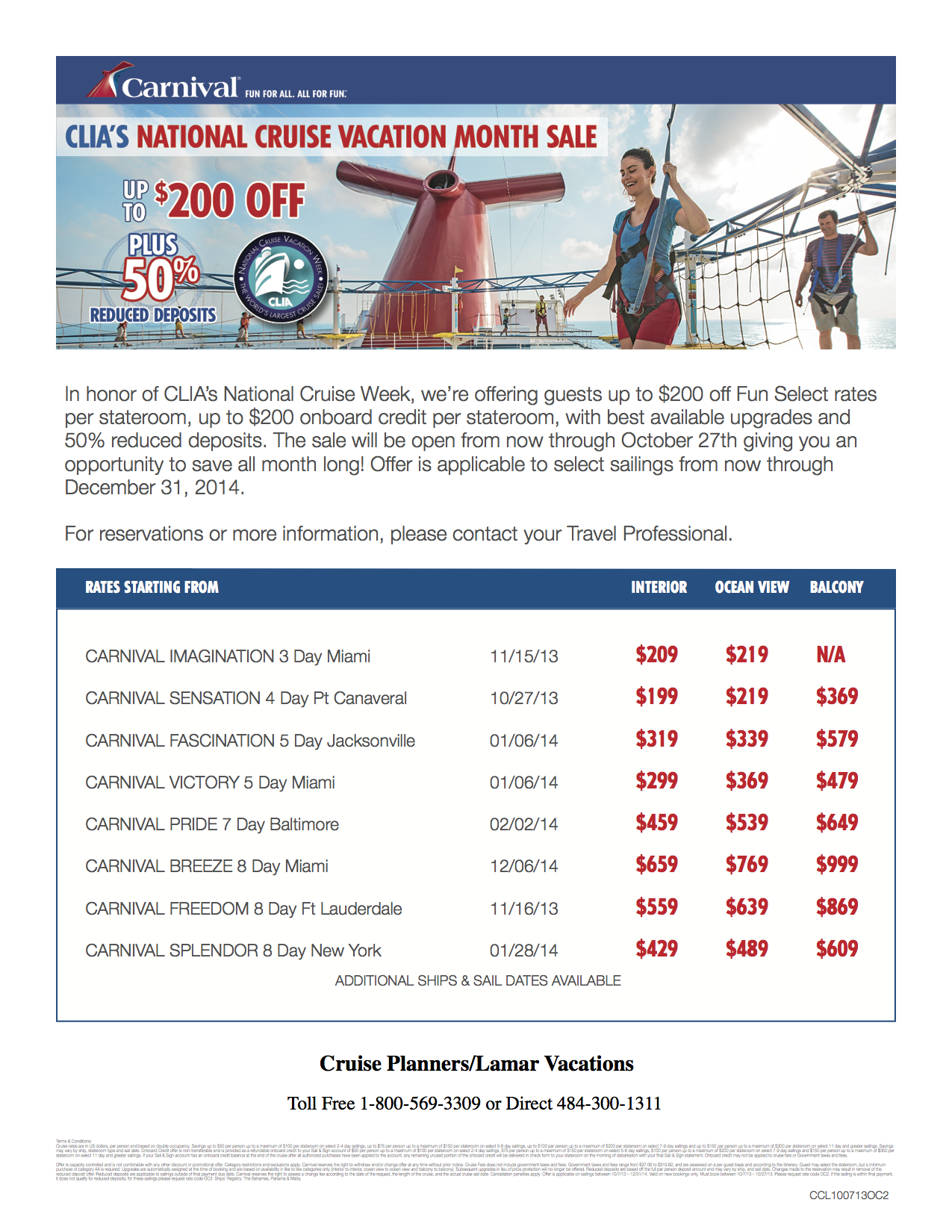 Cruise Vacation, Carnival Cruise Line
