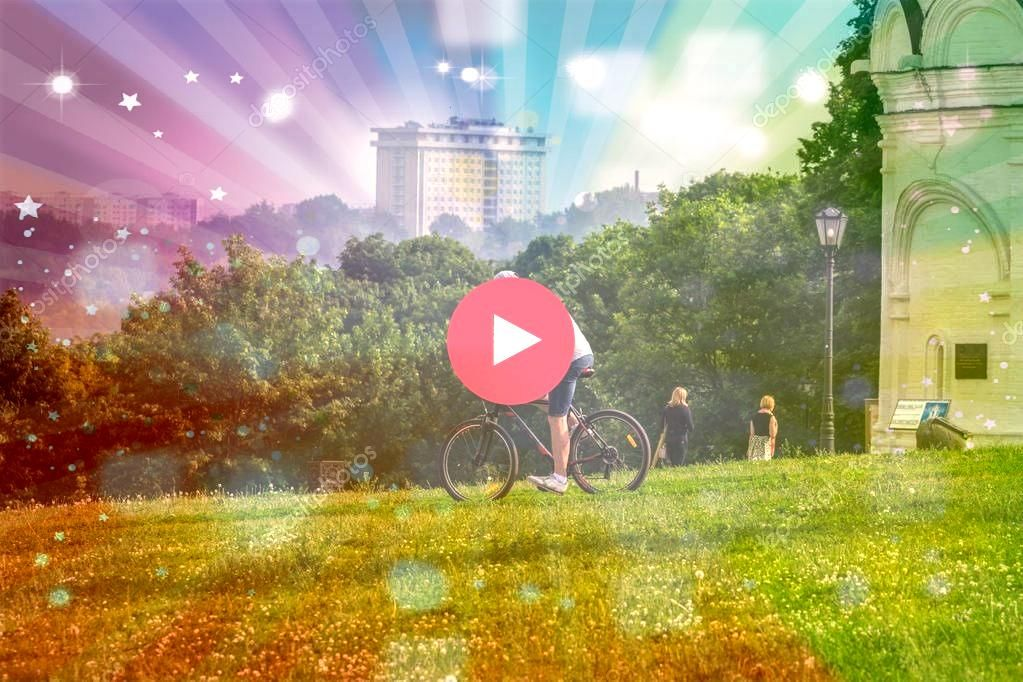 Moscow Russia Biking Hill Park Active Lifestyle Summer  Stock Photo 2019 Moscow Russia Biking Hill Park Active Lifestyle Summer  Stock Photo  Photogenic spots in New Zeal...