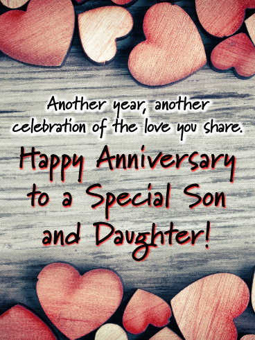 The Lasting Bond Happy Anniversary Card For Son And Daughter Birthday Greeting Cards By Davia Happy Anniversary Cards Happy Anniversary Friends Happy Anniversary Quotes
