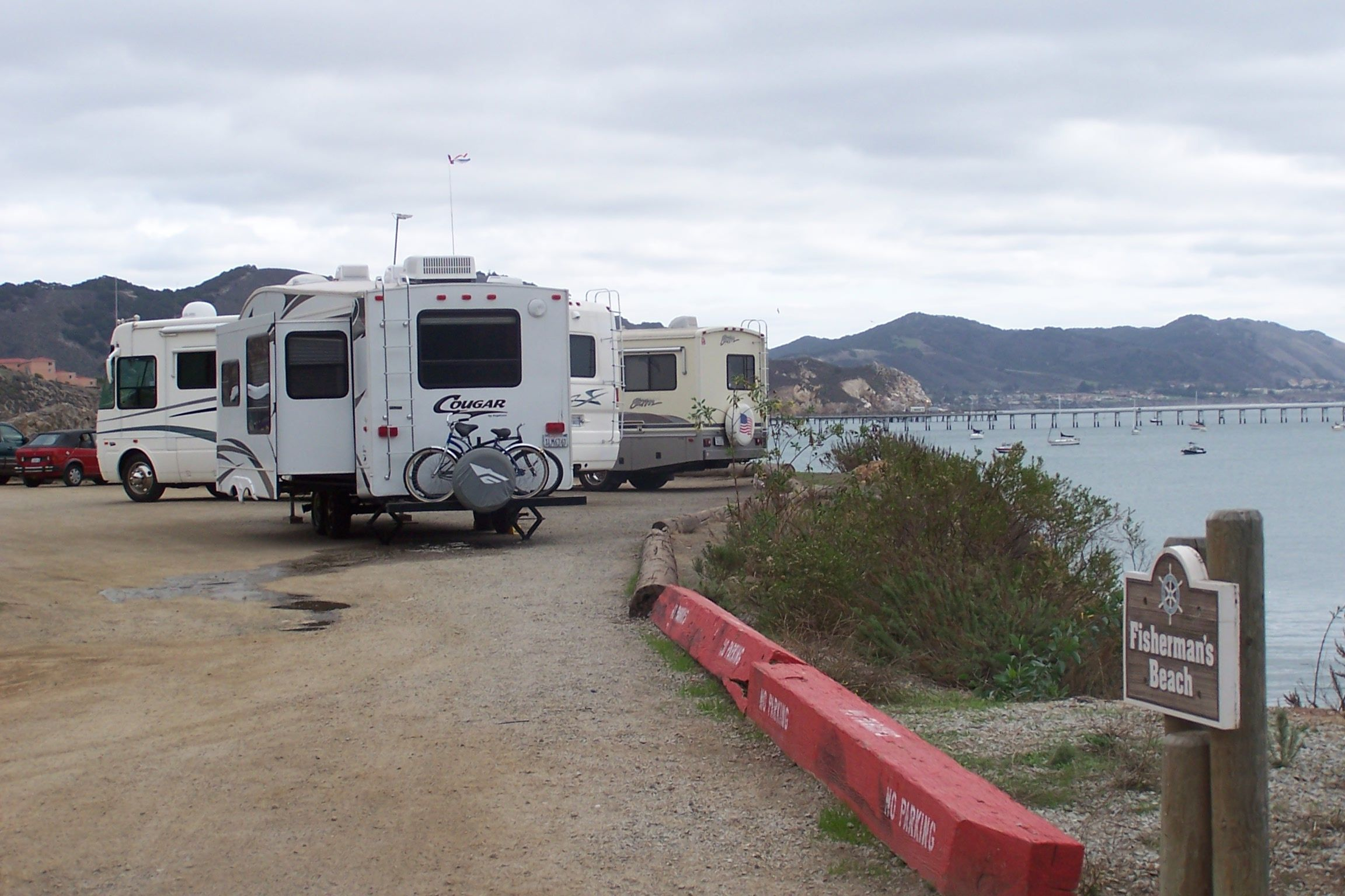 I Point Camping In Port San Luis Harbor