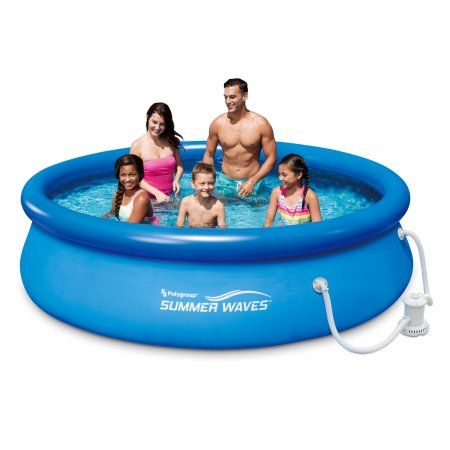 Summer Waves 10ft Quick Set Ring Pool With 600 Gph Filter Pump Walmart Com Summer Waves Blow Up Pool In Ground Pools