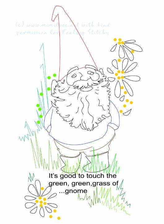 free gnome embroidery pattern | www...EMB... # PATTERNS | Pinterest ...