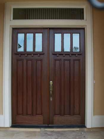 Craftsman style exterior french doors ideas for the for Craftsman french doors