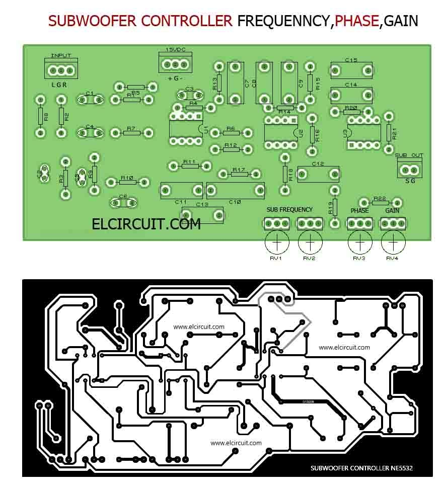 Subwoofer Controller Uses A Single Ic Tl072 Include Pcb T Circuit Boards Crossover Ahmedyerli Of And Active