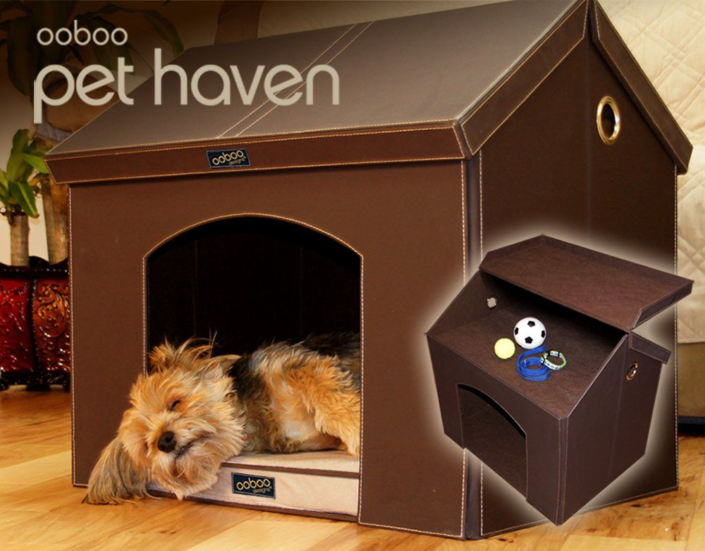 Pet Haven Brown Indoor Dog House Indoor Cat House With Memory Foam Dog Bed And Attic Storage Thank Y Cat Houses Indoor Indoor Dog House Cool Dog Houses