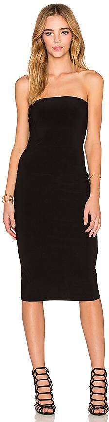 Norma Kamali Strapless Dress in Black