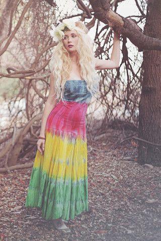 Bohemian Tye Dye Rainbow Maxi Dress | Stylebiter