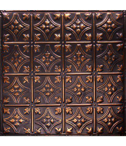 Backsplash Pattern 3 Oil Rubbed Bronze Dark Artisan Tin