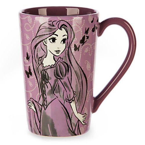 DISNEY STORE RAPUNZEL FASHION SKETCH 14 OZ Coffee Tea LATTE Mug New TANGLED | eBay