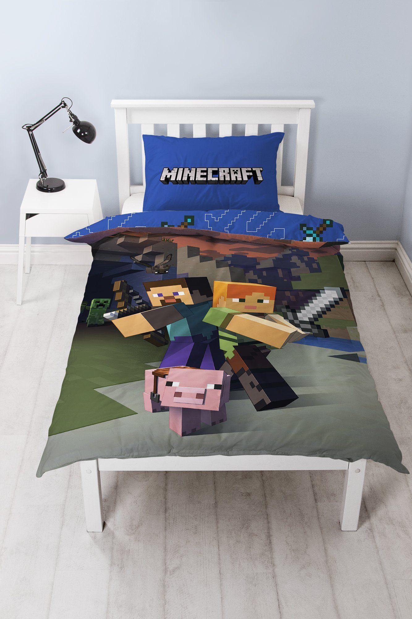 Boys Minecraft Single Bedding Set Kids Bedding Sets Single