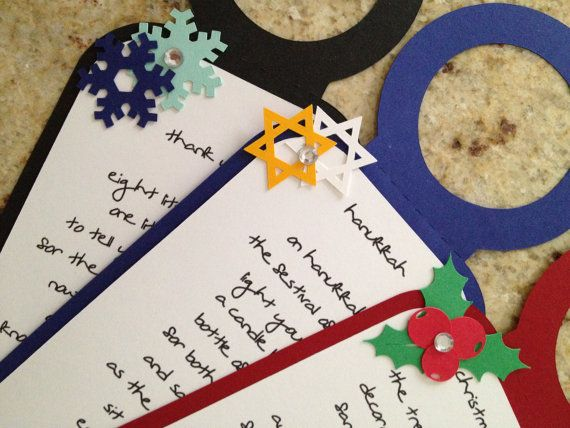 CHRISTMAS/HANUKKAH TAGS Six 6 Personalized Poem by MeticulousArt