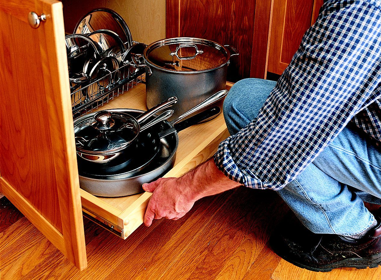 How To Install A Pull Out Kitchen Shelf In 2020 Pull Out Kitchen Shelves Kitchen Base Cabinets Kitchen Shelves
