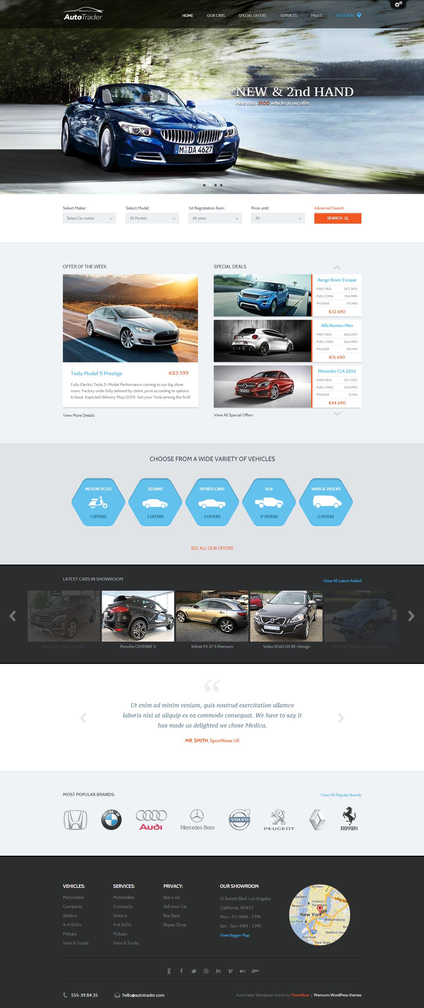 Automotive & Auto Dealer WordPress Theme - Auto Trader | Wordpress ...