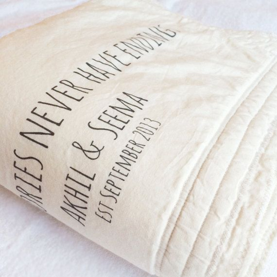2nd Wedding Anniversary Gifts For Men: Blankets And Throws, Engagement Gift, Couples Blanket