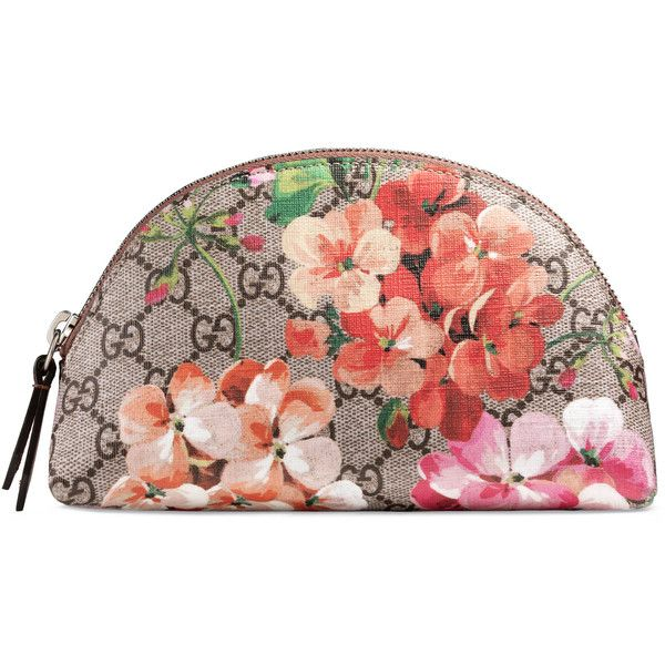 Gucci Gg Blooms Cosmetic Case (3.178.930 IDR) ❤ liked on Polyvore featuring beauty products, beauty accessories, bags & cases, accessories, small accessories & tech, women, purse makeup bag, cosmetic bags, toiletry bag and toiletry kits