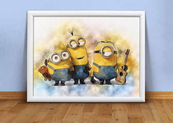 Minions printable Minions clip art Minions wall art Minions | Wall ...