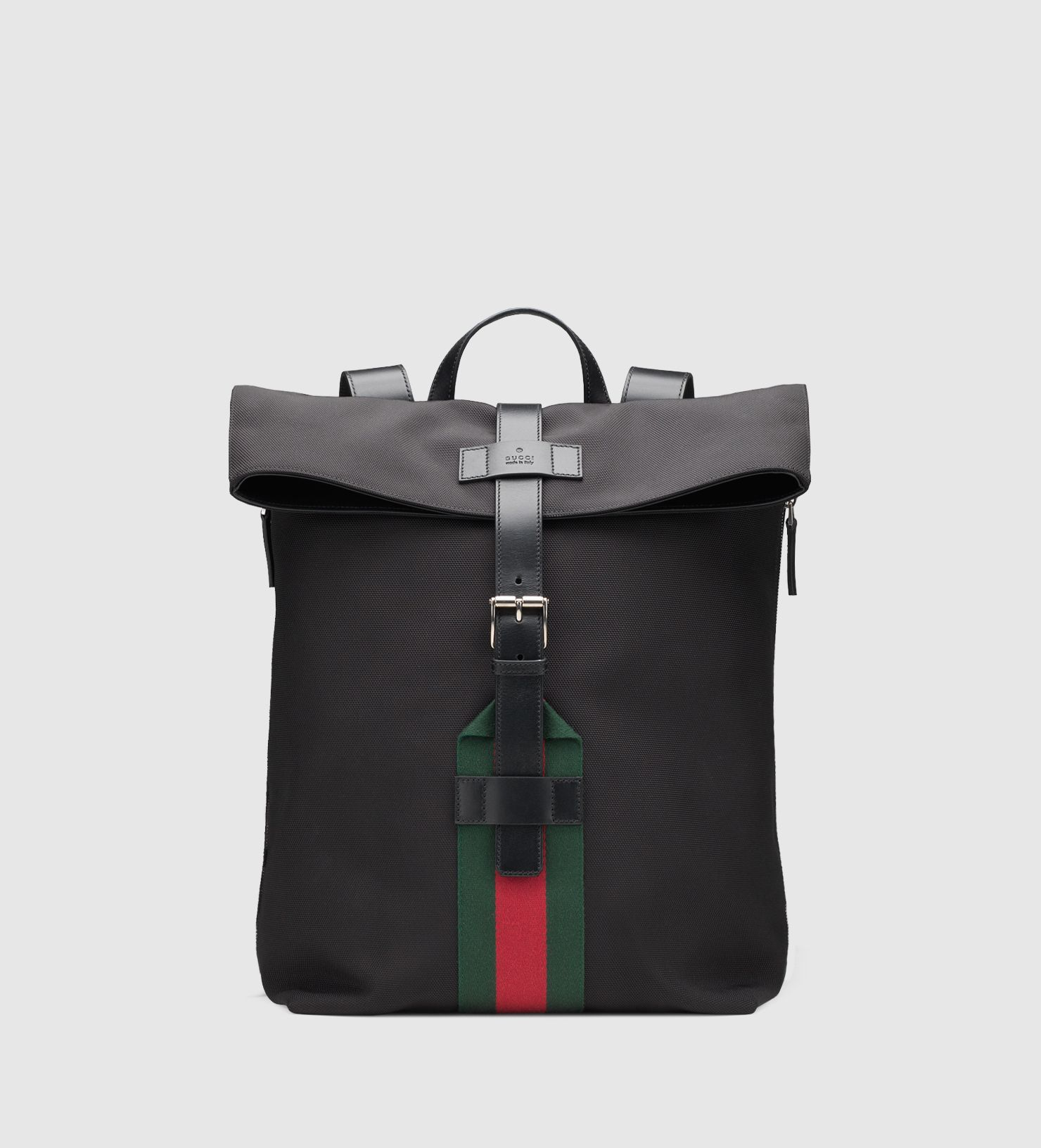 701c07da10e6 Men's Black Techno Canvas Backpack | Gucci Bag Wear | Black gucci ...