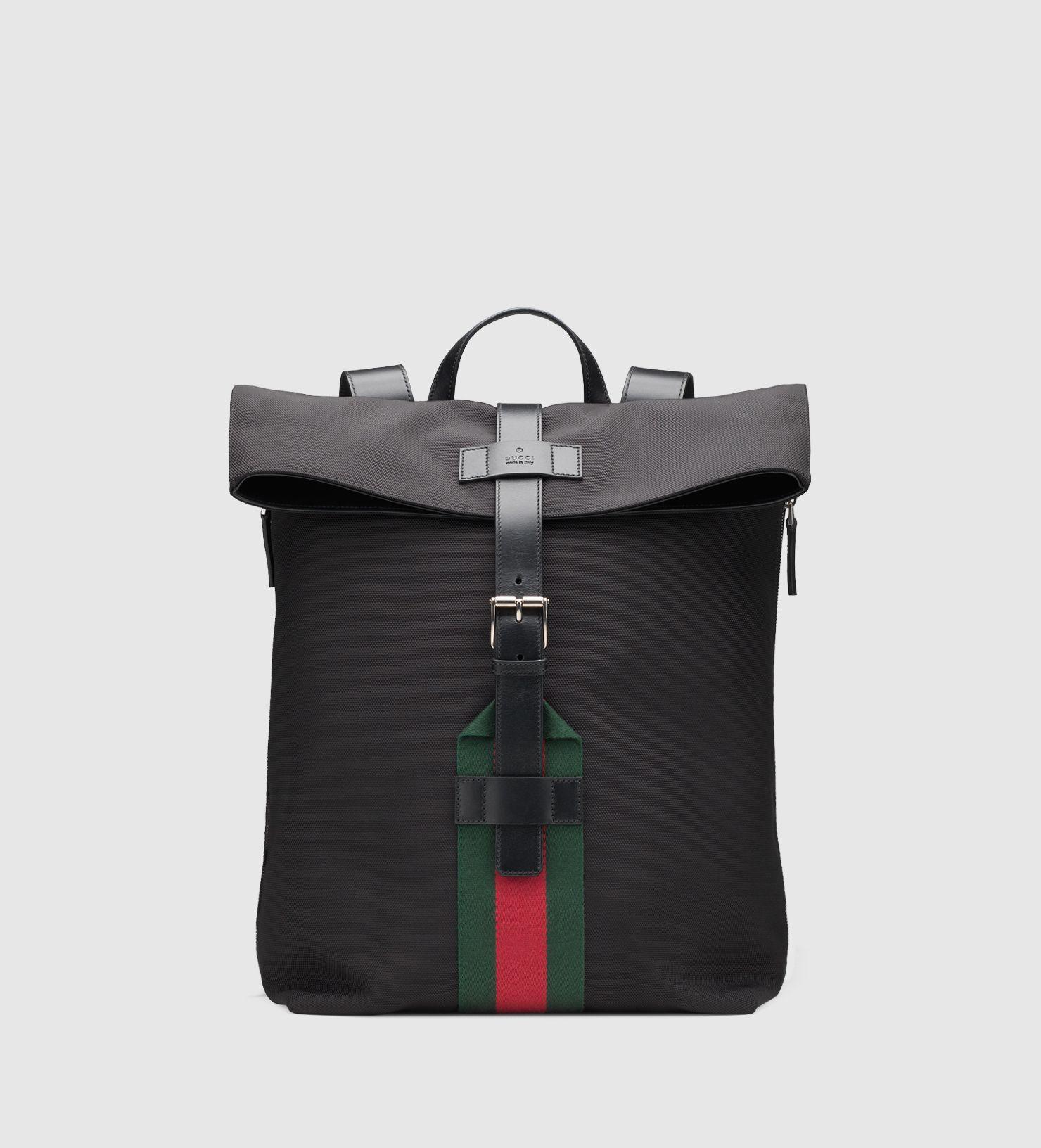 379222cf2 Men's Black Techno Canvas Backpack | Gucci Bag Wear | Backpacks ...