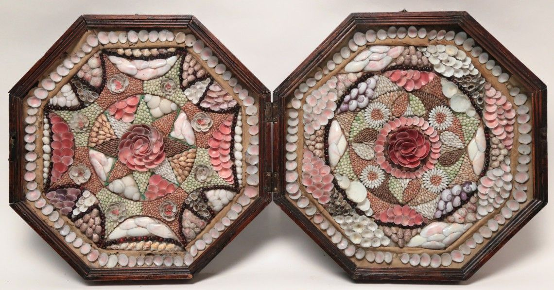 19th Century Double Sailor's Valentine | October 11, 2014 Auction at Rafael Osona Auctions Nantucket, MA