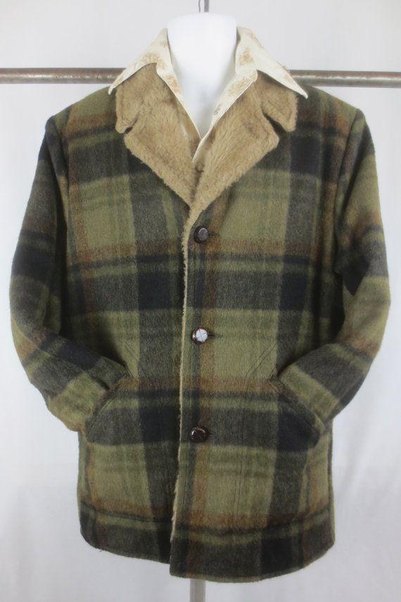b2c6c1a66 Vintage Plaid Pioneer Wear Lined Western Jacket -Cowboy Huntsman ...