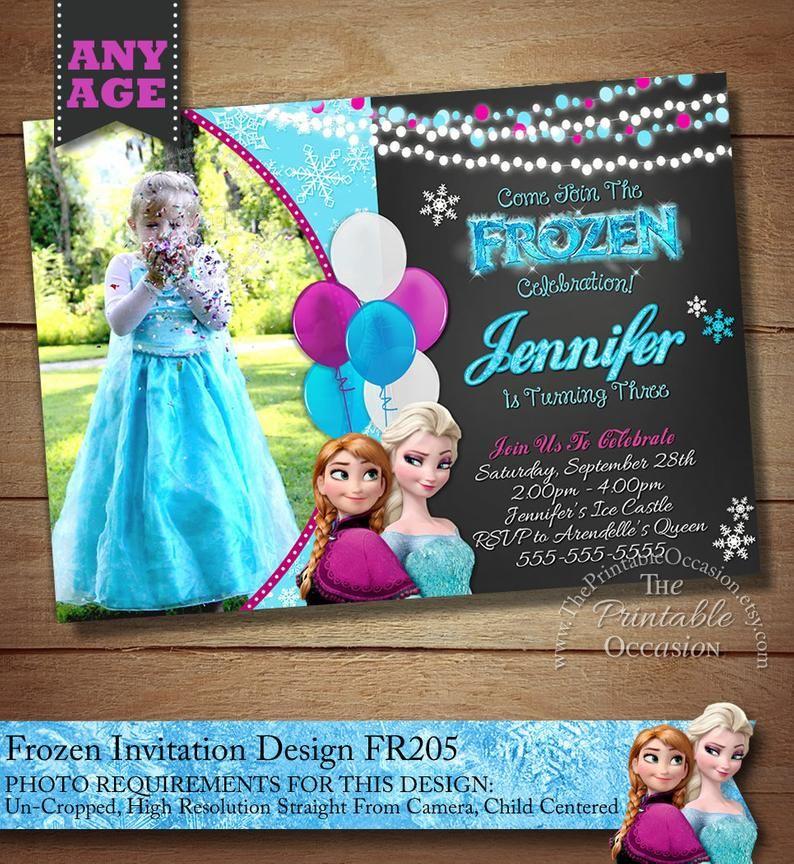 Editable Frozen Birthday Invitations Frozen Birthday Party Etsy Frozen Birthday Invitations Frozen Invitations Birthday Invitations