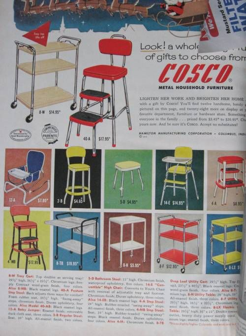 The Allee Willis Museum Of Kitsch » Rolling Kitchen Cart, Step Stools  A  1950