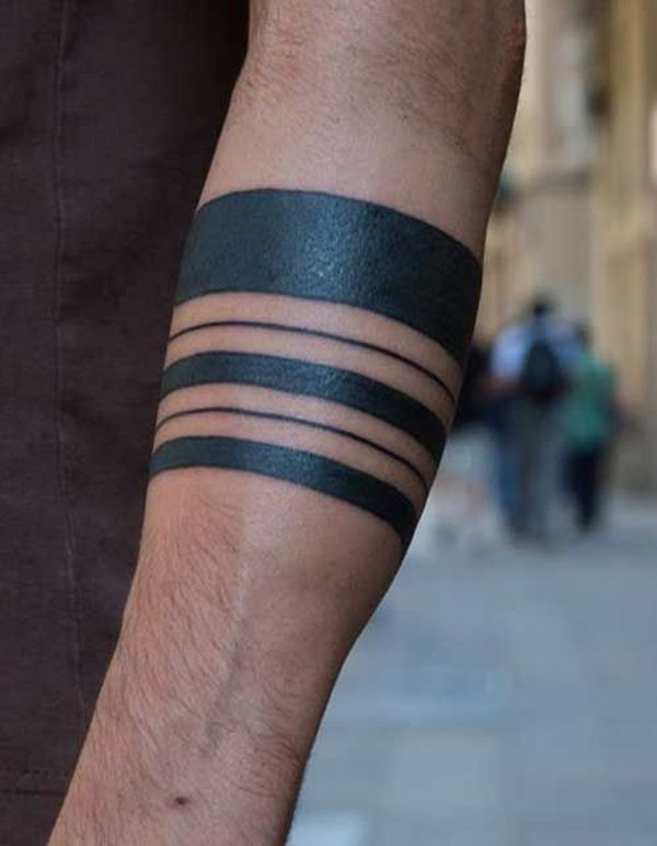 Simple Yet Strong Line Tattoo Designs 2 Arm Band Tattoo Band Tattoo Wrist Band Tattoo