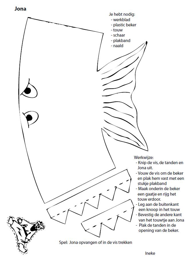 Knutselwerkje en spel Jona Craft and game Jonah: cut out and paste ...