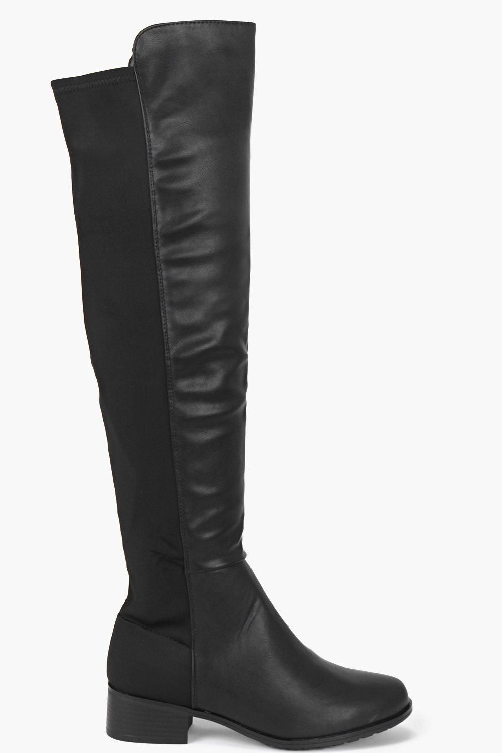 Spot On Ladies Flat Knee High Boots