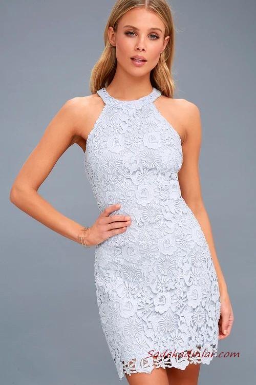 Ilkbahar Yaz Icin Muhtesem 2020 Yazlik Elbise Modelleri Pembe Midi Ip Askili Burumcuk Desenli 2020 Dantel Elbise The Dress Elbise Modelleri