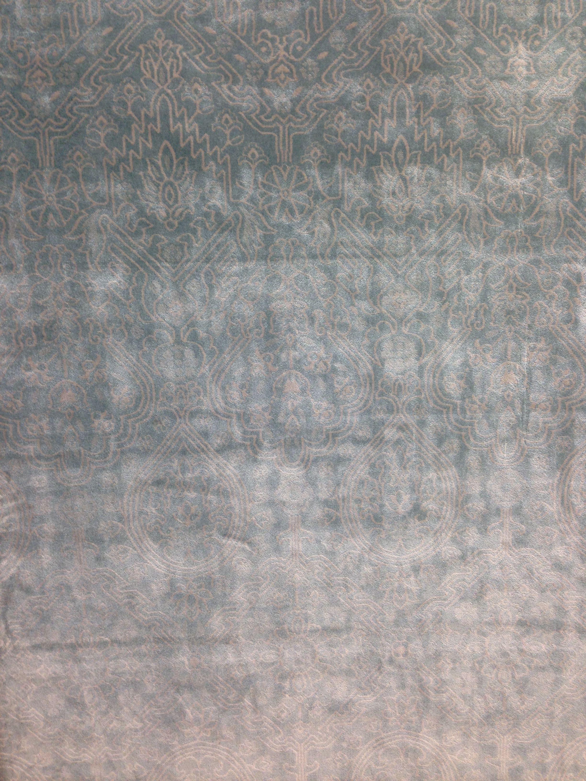 Light blue-grey viscose rug at HomeGoods