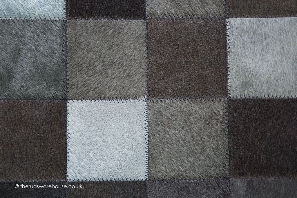 Chantilly Dark Mix Rug Texture Close Up A Luxury Cowhide Leather Modern Rug In Shades Of Grey Brown Http Www Therugsw Leather Rug Suede Rugs Rug Texture