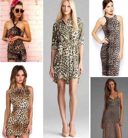 Платье с леопардовой расцветкой