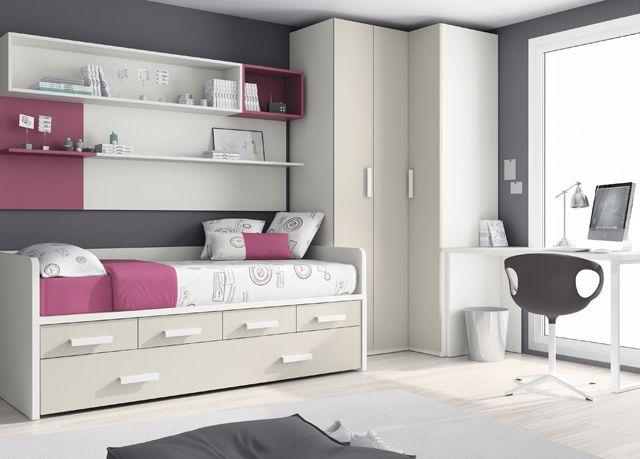 Kids touch 20 habitaci n juvenil juvenil camas compactas y - Camas nido compactas ...