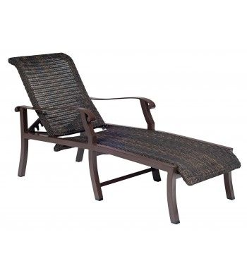 Cortland Woven Chaise Lounge | Teak chaise lounge, Chaise ... on Living Accents Cortland Patio Set id=96128