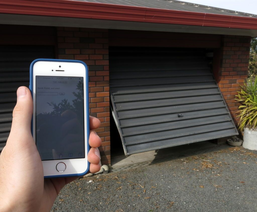 Homemade garage door We can adjust a power homemade