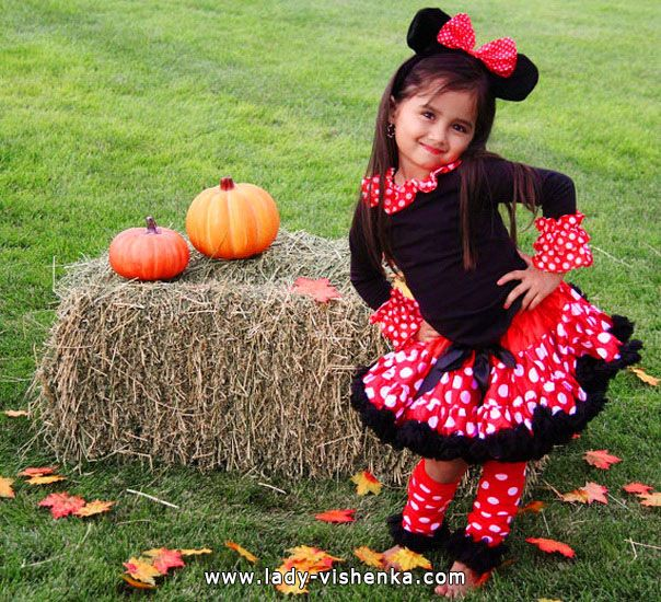 The costume for a little girl - Mini Mouse  sc 1 st  Pinterest & The costume for a little girl - Mini Mouse | halloween crafts ...