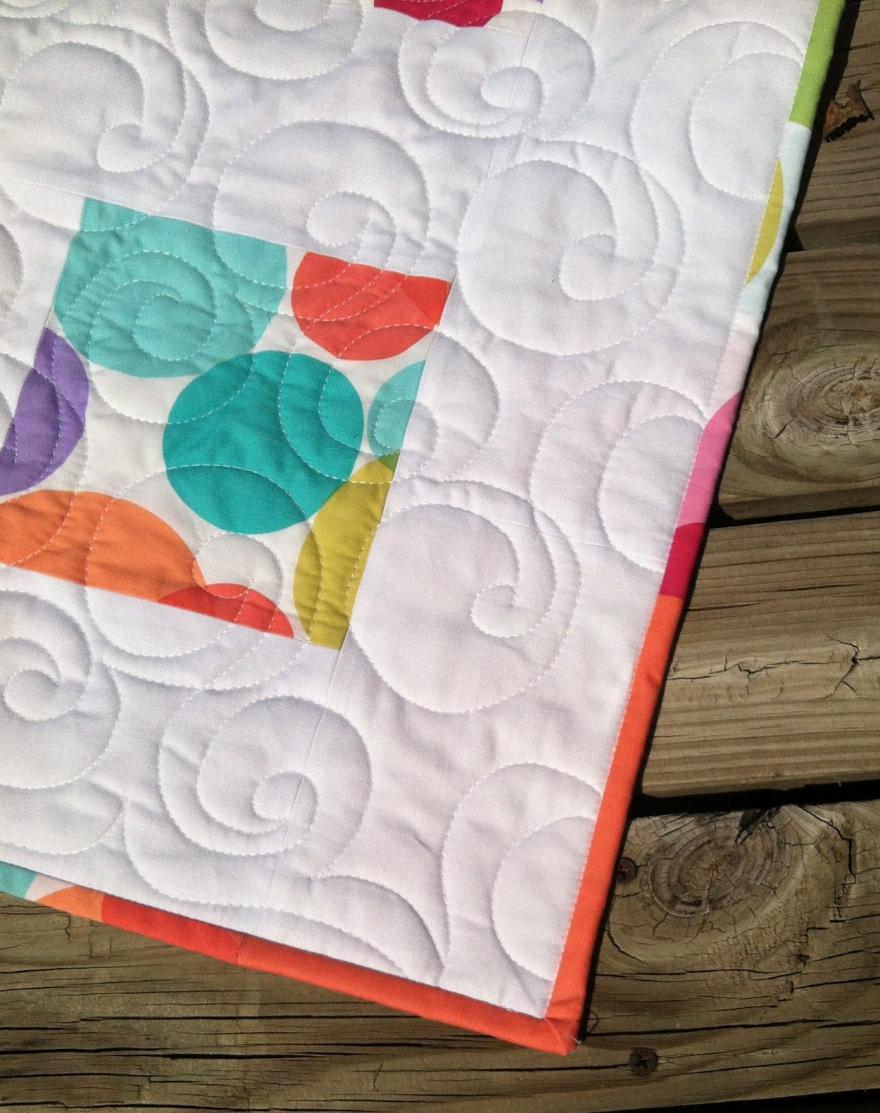 Solid mixed with print in binding of Sliced Bread by Modern Quilt ... : easy quilt binding by machine - Adamdwight.com