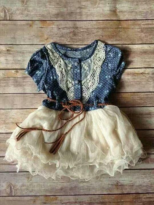 Photo of Sweet little blue & white dress