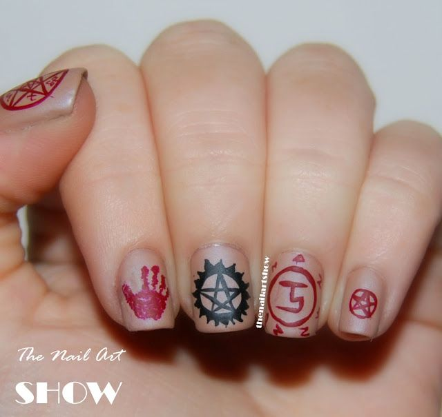 The Nail Art Show 31 Day Challenge 29 Inspired By Supernatural Know Your Symbols